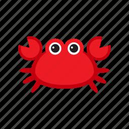 animal, crab, red, sea, seafood icon