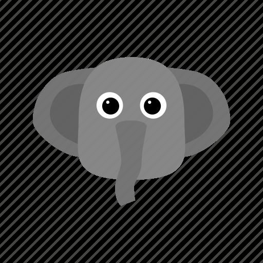 animal, elephant, long, nose icon