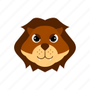 animal, forest, king, lion icon