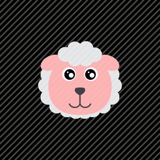 animal, cute, fleece, sheep, wool icon