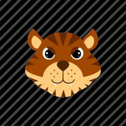 animal, predator, tiger, wild icon