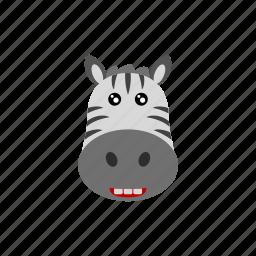 animal, zebra, zoo icon