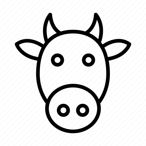 Cow, buffalo, face, pet, animal icon - Download on Iconfinder
