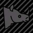 rhinoceros, animal, wild, zoo, horn