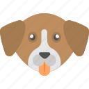 brown dog, four legged, puppy, animal, dog face icon
