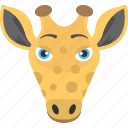 animal face, giraffe face, herbivorous, long face, long years icon