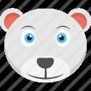 baby bear, baby face, bear face, cub face, white cub icon