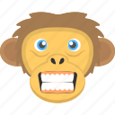 angry, angry monkey, angry monkey face, fierce animal, monkey face icon