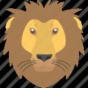 animal, fierce lion, furry lion, jungle king, lion mane icon