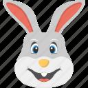 bunny teeth, cute animal, smiling bunny, smiling white rabbit, white rabbit icon