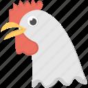 domestic animal, farm animal, hen face, poultry hen, yellow beak icon
