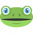 amphibian, animal face, blue eyed toad, frog face, toad face icon