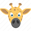 baby face, calf face, face of calf, giraffe face, pet animal icon