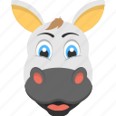 adorable cow, big ears, domestic animal, smiling cow face, white cow face icon