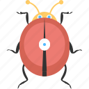 bugs, insects, lady bird, red bug, single lady bird icon