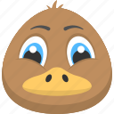 adorable pet, brown duckling, brown duckling face, duck face, duckling icon
