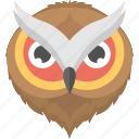 animal, bird face, brown owl, brown owl face, owl face icon