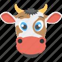animal face, brown cow, brown cow face, cow face, mammal icon