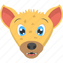 baby face, baby hyena, baby hyena face, pet animal, yellow hyena icon
