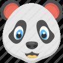animal, lazy panda, panda face, smiling panda, white faced panda icon