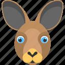 animal, animal face, brown bunny, bunny face, long ears icon