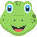 animated baby crocodile, baby crocodile, crocodile face, hatchling icon