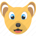 baby lion, smiling cub, cub face, adorable cub, wild animal icon