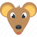 animated mouse, brown mouse, domestic animal, little brown mouse, mouse face icon
