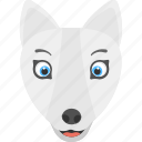 forest, fox face, white fox, white fox face, wild animal icon