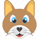 brown cat, brown kitty, cat face, pet animal, smiling cat icon