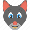 black kitten, cat face, kitten face, pet animal, smiling kitten icon