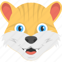 adorable tiger, animated tiger face, baby tiger, wild animal icon