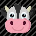 animal, animals, avatars, cow, nature, wildlife icon