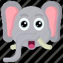 animal, animals, avatars, elephant, nature, wildlife icon