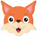 animal, animals, avatars, fox, nature, wildlife icon