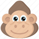 animal, animals, avatars, gorilla, nature, wildlife icon