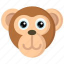 animal, animals, avatars, monkey, nature, wildlife icon
