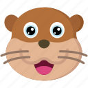 animal, animals, avatars, nature, otter, wildlife icon