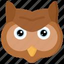 animal, animals, avatars, bird, owl, wildlife icon