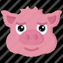 animal, animals, avatars, farm, pig, wildlife icon
