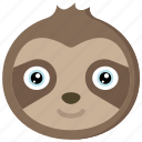 animal, animals, avatars, nature, sloth, wildlife icon