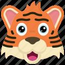 animal, animals, avatars, nature, tiger, wildlife icon