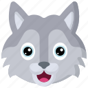 animal, animals, avatars, nature, wildlife, wolf icon