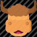animal, animals, avatars, nature, wildlife, yak icon
