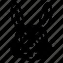animal, animals, avatars, nature, rabbit, wildlife icon