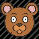animal, animals, avatars, bear, nature, wildlife icon