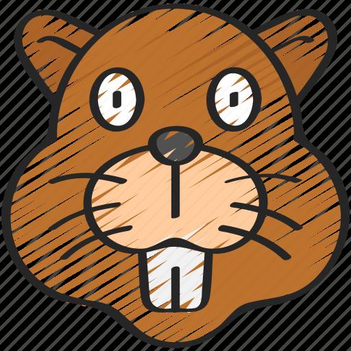animal, animals, avatars, beaver, nature, wildlife icon