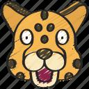 animal, animals, avatars, cheetah, nature, wildlife icon