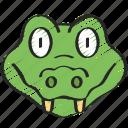 animal, animals, avatars, crocodile, nature, wildlife icon