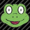 animal, animals, avatars, frog, nature, wildlife icon